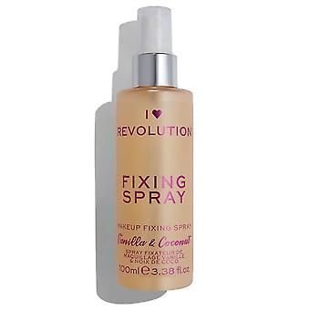 Makeup Revolution I Heart Revolution Fixing Spray - Vanilla Bean & Coconut