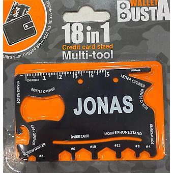 Multitool Multitool JONAS luottokortin pankkikortti
