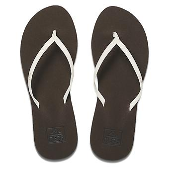 Reef Bliss Nights Flip Flops in Brown/White