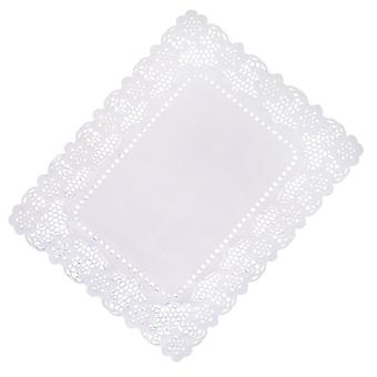 White Lace Paper Tray Covers 25cm x 36cm