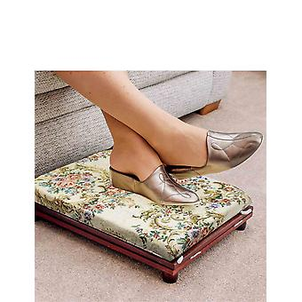 Chums Set of 2 Adjustable Footstools Folding Store Away Tapestry Foot Rest