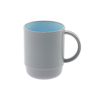 450ml Grey and Blue Plastic Mug Blu/Gry