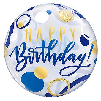 Qualatex 22 Inch Happy Birthday Dotted Birthday Balloon