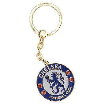 Chelsea FC Official Metal Football Crest Keyring