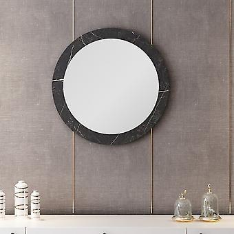 Spiegel Lady 184 Schwarz Farbe, Melaminic Chip Chrom, Spiegel, L60xP2xA60 cm