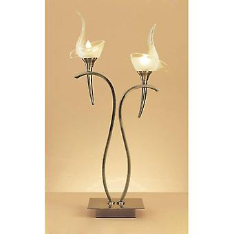 Viena Table Lamp 2 Bulbs G9, Antique Brass
