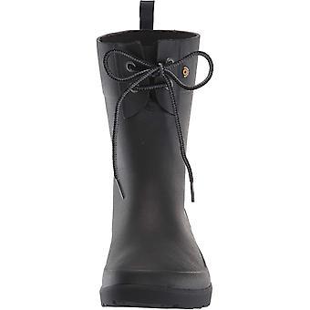 BOGS Women's Flora 2 Eye Waterproof Garden Rain Boot, Black, 8 M US