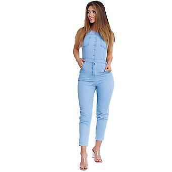 Women's Jeans Jumpsuit Overall Festival One-piece Playsuit Casual Summer Suit