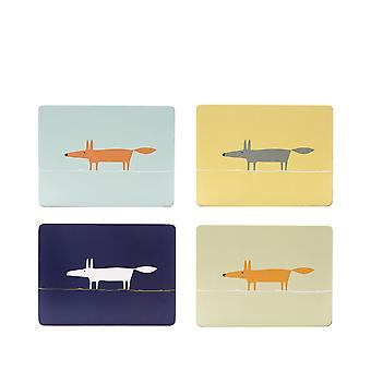 Scion Mr Fox Set of 4 Placemats, Blue