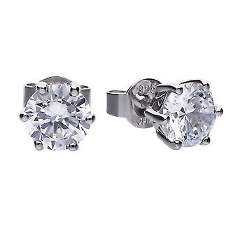 Diamonfire E5581 Claw Set 2ct Solitaire Earrings