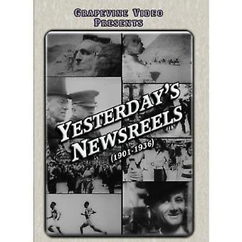 Yesterday's Newsreels 1901-1936 [DVD] USA import