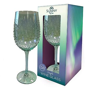 Sunny By Sue Lustre Decorated Wine Glass