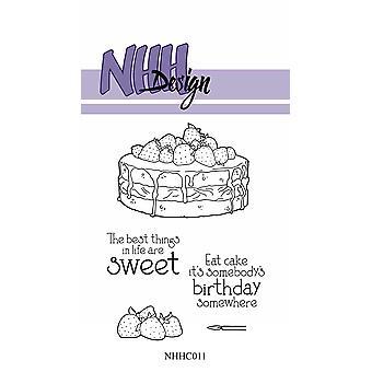 NHH Design Pretty Cake Clear Stamps