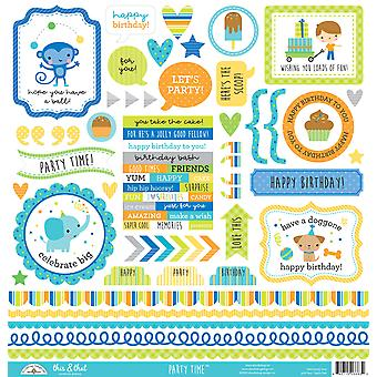 Doodlebug Design Party Time This & That Stickers