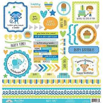 Doodlebug Design Party Time Tämä &; Että Tarrat