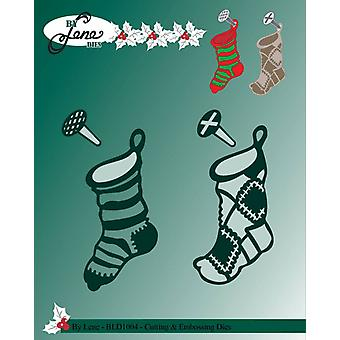 By Lene Metal Dies Christmas Socks