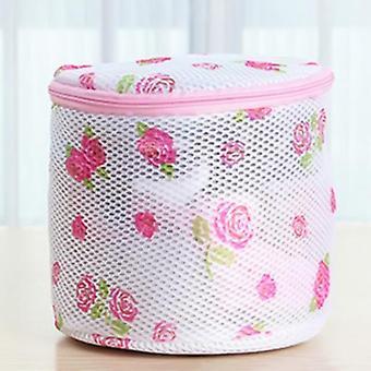 Floral Color Clothes Washing Machine Laundry Bags Washing Hosiery Saver Women Bra Mesh Net Wash Bag Bathroom Tools