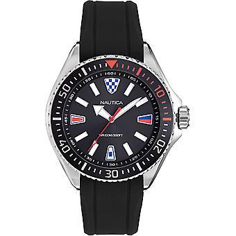 NAPCPS903, Nautica Crandon Park Beach Relojes para Hombre -Negro