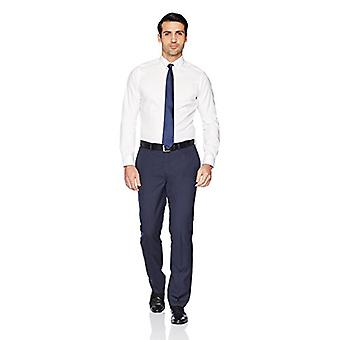"""BUTTONED DOWN Men's Tailored Fit Button-Collar Solid Non-Iron Dress Shirt (No Pocket), White, 16"""" Neck 37"""" Sleeve"""