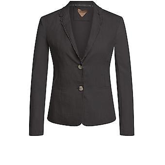 Oui Black Linen Jacket