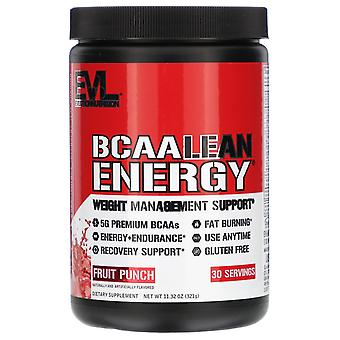 EVLution Nutrition, BCAA LEAN ENERGY, Fruit Punch, 11,32 oz (321 g)
