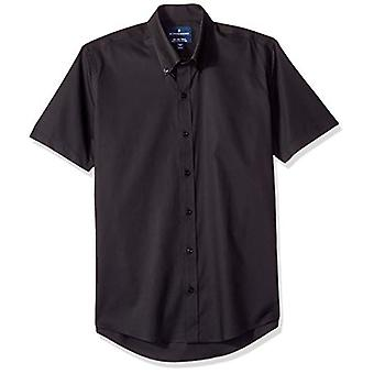 BUTTONED DOWN Men's Slim Fit Stretch Bouton-Collar Short-Sleeve Non-Iron Shir...