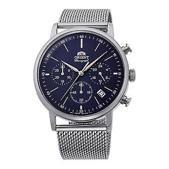 Cronógrafo de relógio masculino orient clássico RA-KV0401L10B