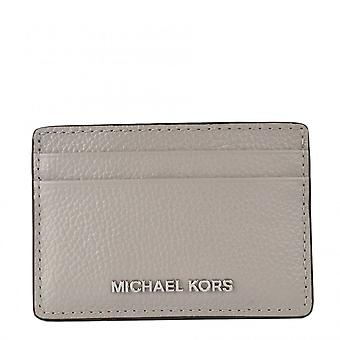 MICHAEL Michael Kors Jet Set Travel Leather Card Holder Pearl Grey