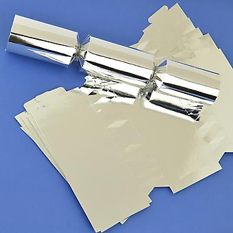 Single Silver Foil Make & Fill Your Own DIY Christmas Cracker Craft Kit
