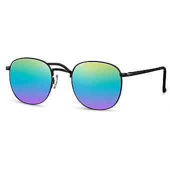 Sunglasses unisex panto cat. 3 matt black/rainbow