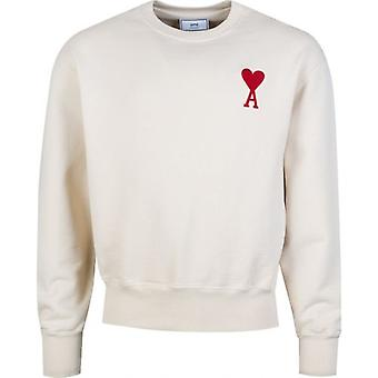Ami Big Heart Logo Crew Neck Sweat