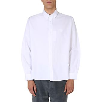 Kenzo Fa65ch4001ld01 Men'camisa de algodão branco