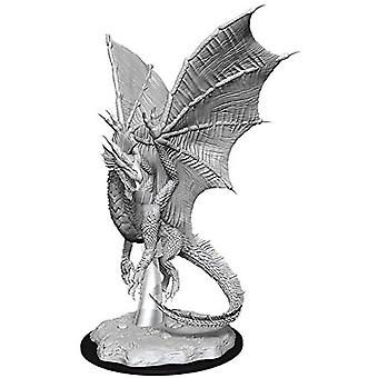 D&D Nolzur's Marvelous Unopliced Minis Young Silver Dragon