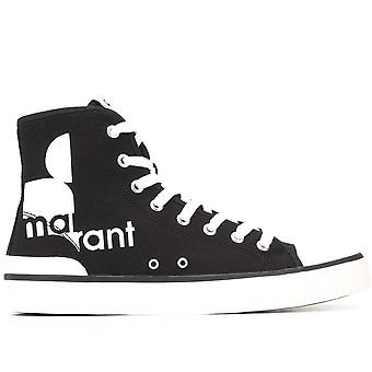 Isabel Marant Ezcr051001 Women's Black Fabric Hi Top Sneakers