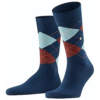 Burlington King Socks - Iimoges Bleu/Brun/Bleu clair