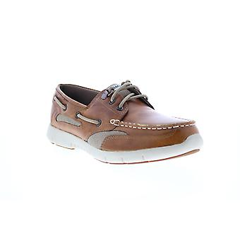 Sebago Clovehitch Lite FGL Oiled  Mens Brown Leather Boat Shoes Loafers