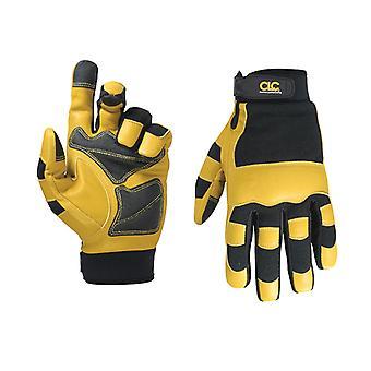 Kuny's Hybrid-275 Top Grain Leather Neoprene Cuff Gloves Large (Size 10) KUN275L