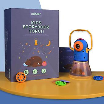 Portable Projector Light Storybook Torch Toys Tales Book Set - Baby Mini Theater Developmental Games Lantern Starry Sky Sleep Lamp (md 1103)