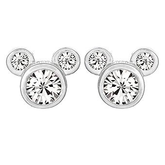 Mickey Mouse Head Sterling Silver Stud Boucles d'oreilles