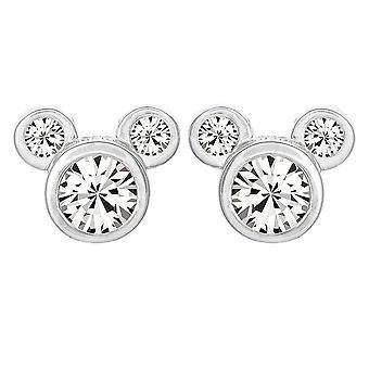 Mickey Mouse Head Sterling Silver Stud Earrings