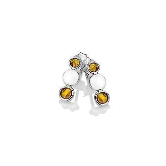 Emozioni Nettare echte Amber Sterling zilveren oorbellen EE036