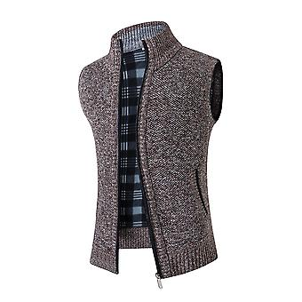 YANGFAN Mens Stand Collar Thicken Padded Waistcoat Vest