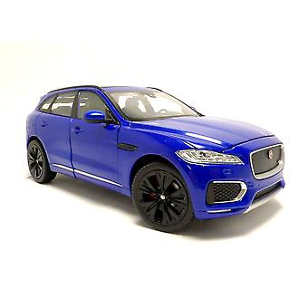 Jaguar F-Pace (2016) in Blue (1:24 scale by Welly 24070B)