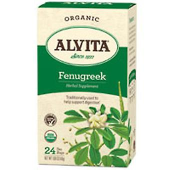 Alvita Teas Organic Herbal Tea, Fenugrec 24 BAGS