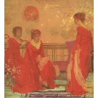 Harmonie In Farbe von Fleisch und roten 1869 Poster Print von James McNeill Whistler
