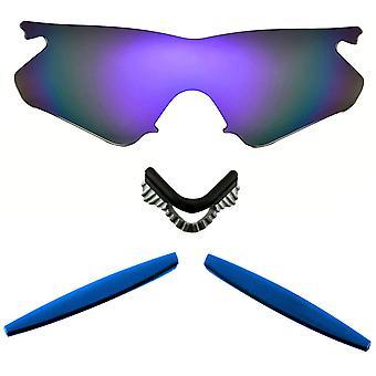 Polarized Replacement Lenses Kit for Oakley M Frame Heater Purple Mirror Blue Anti-Scratch Anti-Glare UV400 SeekOptics