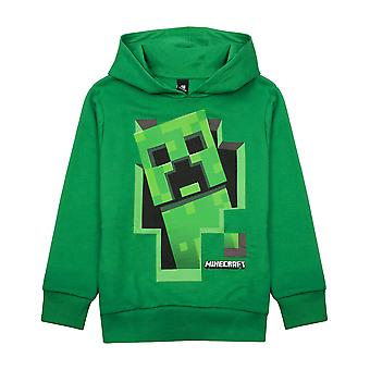 Minecraft Creeper Inside Boys Green Hoodie Gamer Kids Hooded Sweater