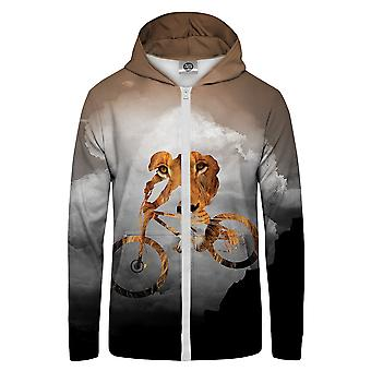 Mr. GUGU & Miss GO Inspiration Bike Lion Bluza z kapturem Kangaroo Zip Up