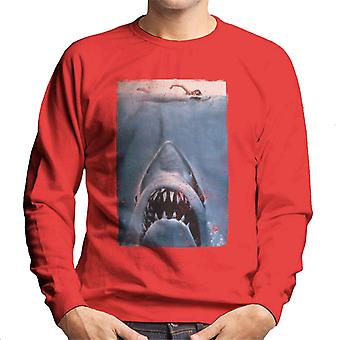 Jaws Classic Poster Stalking Prey Men's Sweatshirt