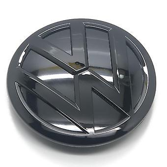 Kiiltävä Musta VW Volkswagen Polo 6C Etugrilli Konepelti Merkki Tunnus 120mm 2014-2016 120mm